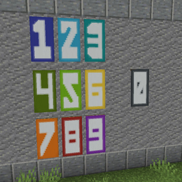 Minecraft Numbers Banners Gamer Geeks