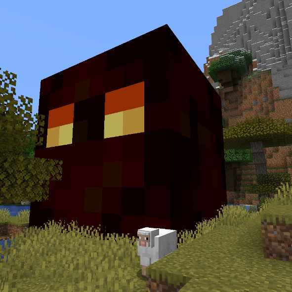 Summoned minecraft mega magma cube