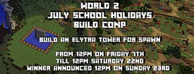 School Holiday build comp for a community Elytra Tower at spawn