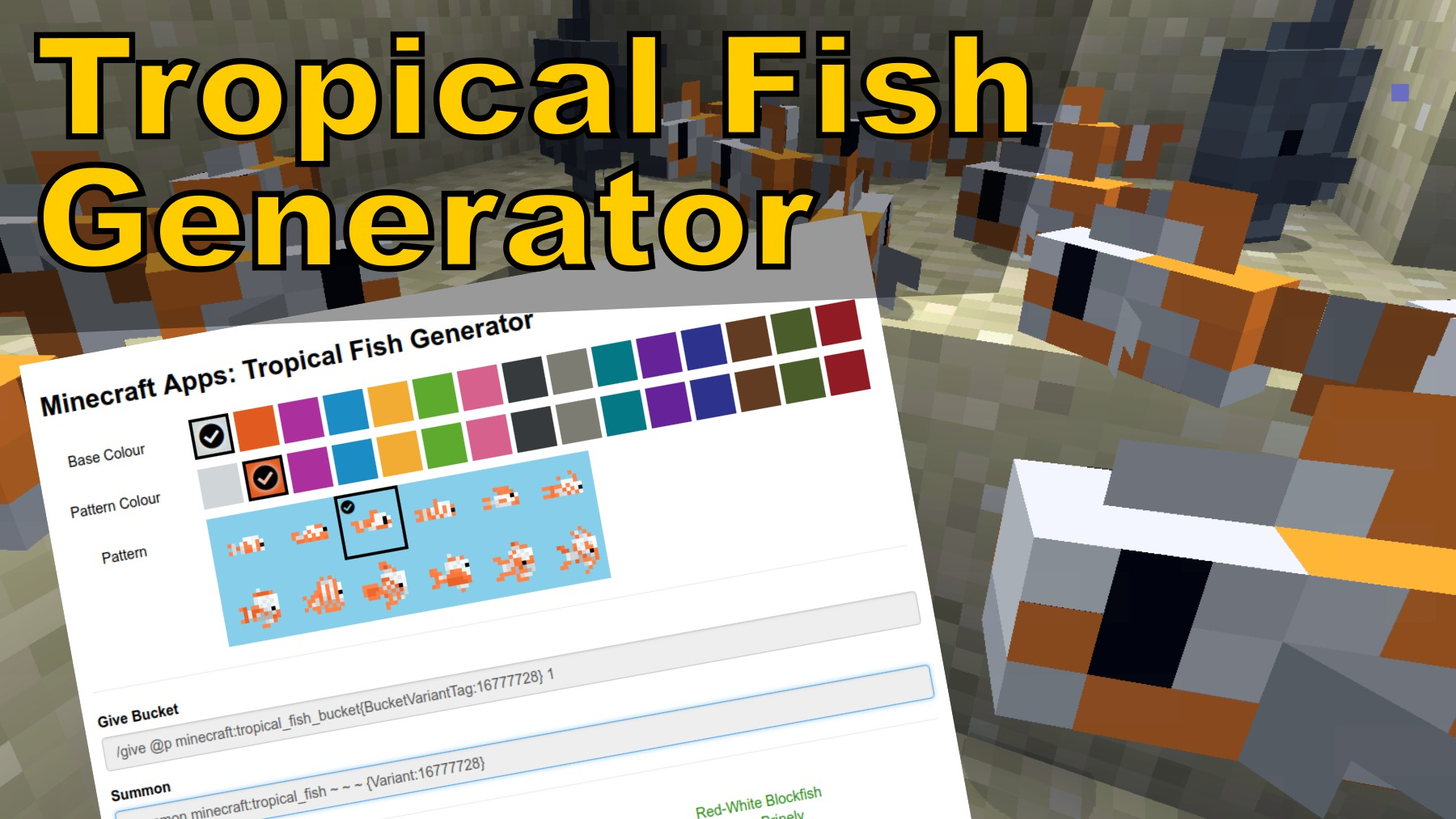 Minecraft Tropical Fish Generator